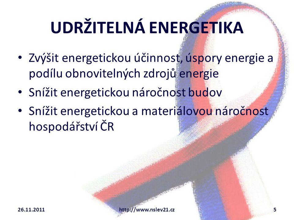 UDRŽITELNÁ ENERGETIKA