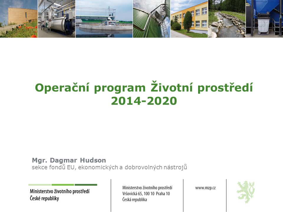 Operační program Životní prostředí 2014-2020