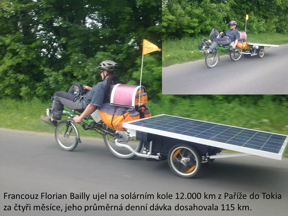 Francouz Florian Bailly ujel na solárním kole 12