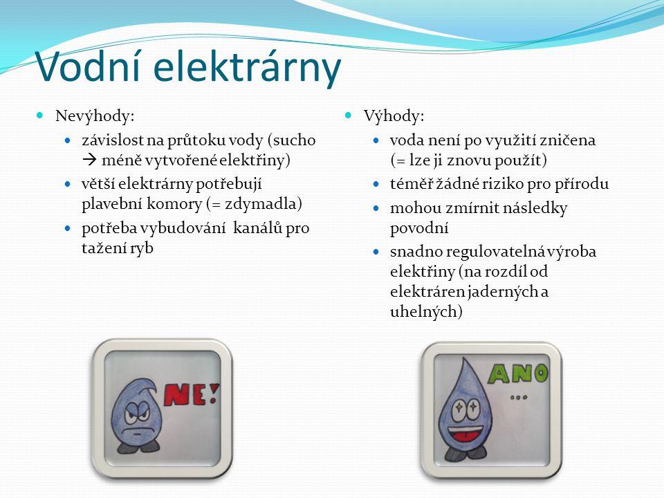 Vodní elektrárny Nevýhody: