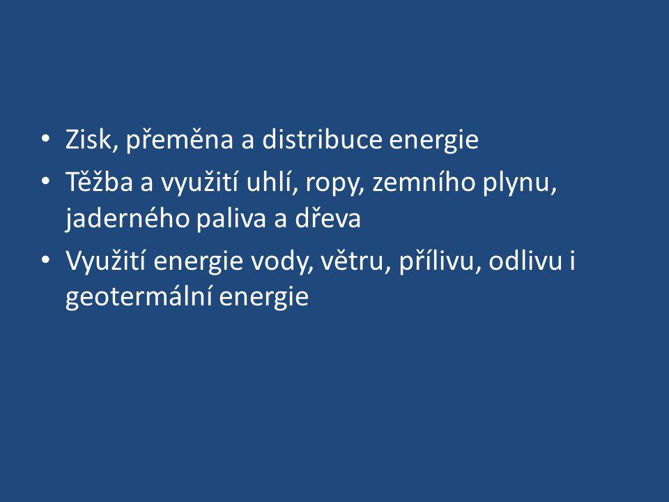Zisk, přeměna a distribuce energie