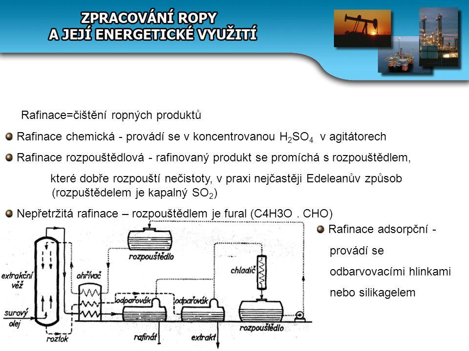 Rafinace=čištění ropných produktů