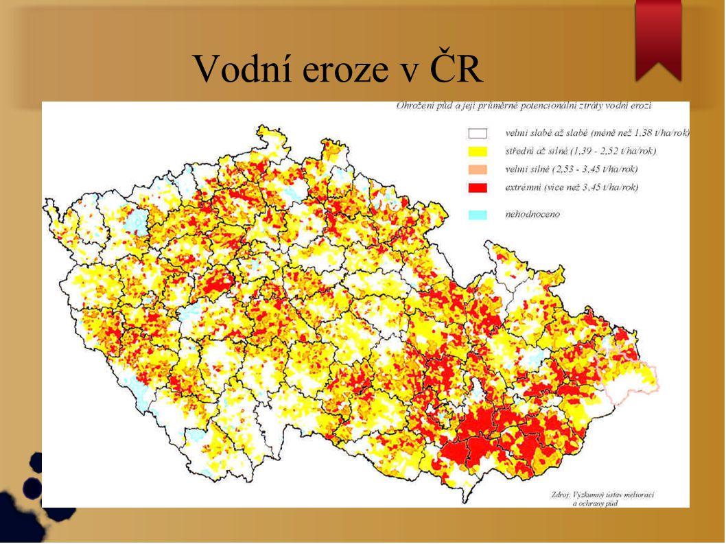 Vodní eroze v ČR
