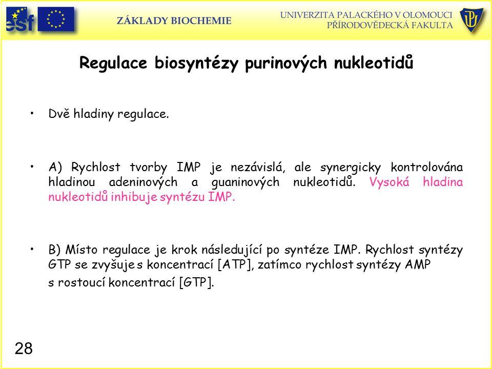 Regulace biosyntézy purinových nukleotidů