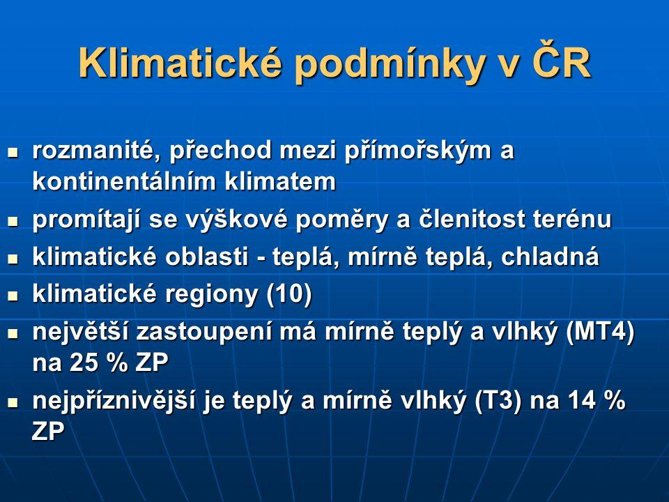 Klimatické podmínky v ČR