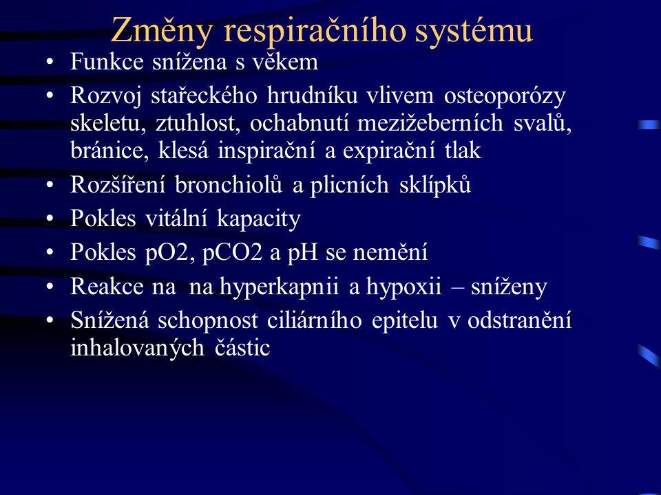 Změny respiračního systému