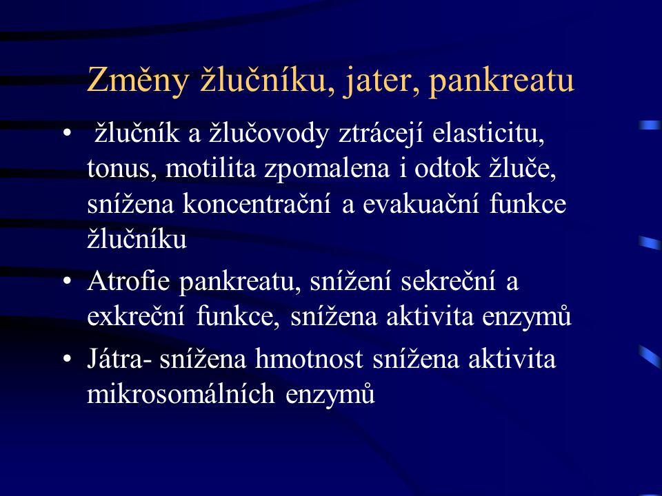 Změny žlučníku, jater, pankreatu