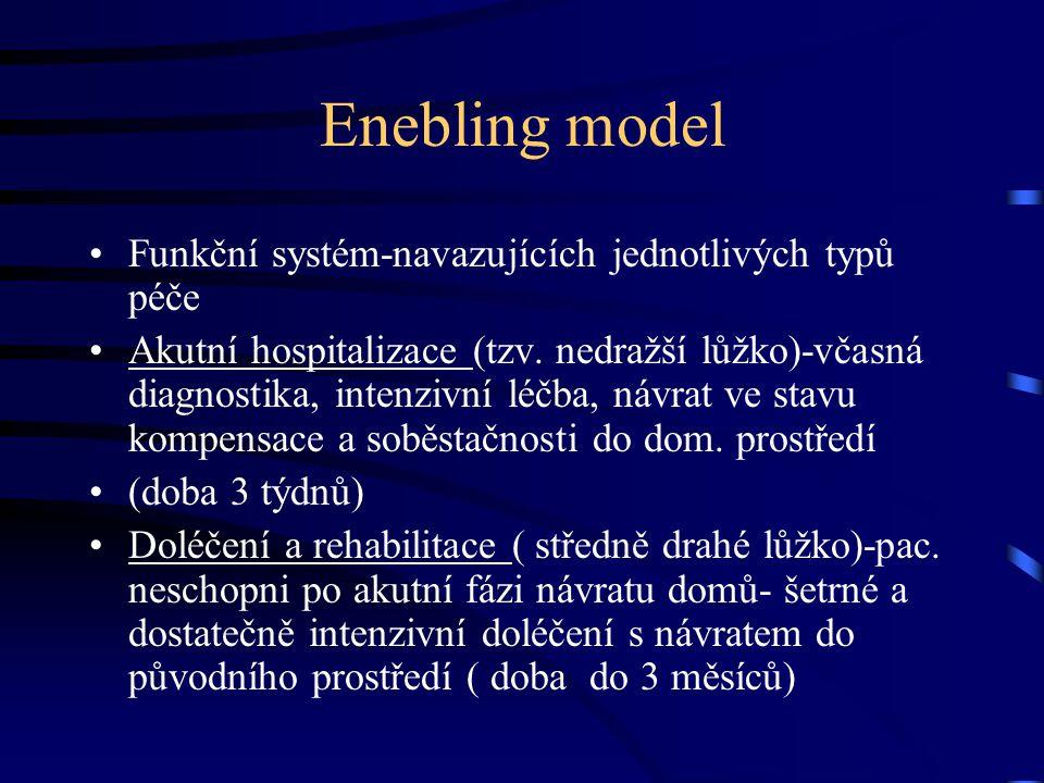 Enebling model Funkční systém-navazujících jednotlivých typů péče