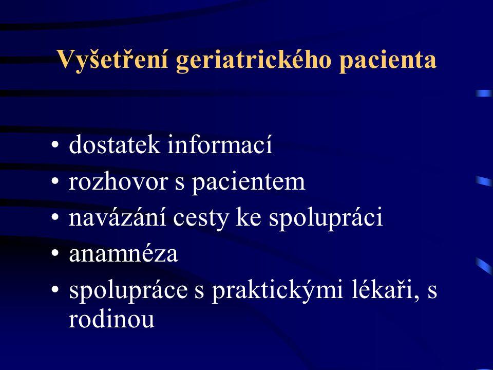 Vyšetření geriatrického pacienta