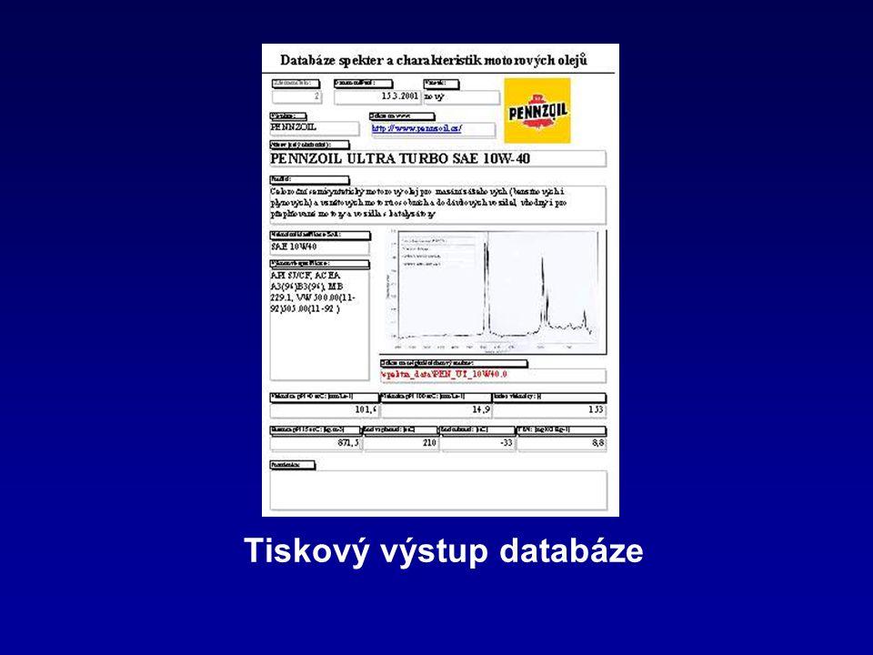 Tiskový výstup databáze