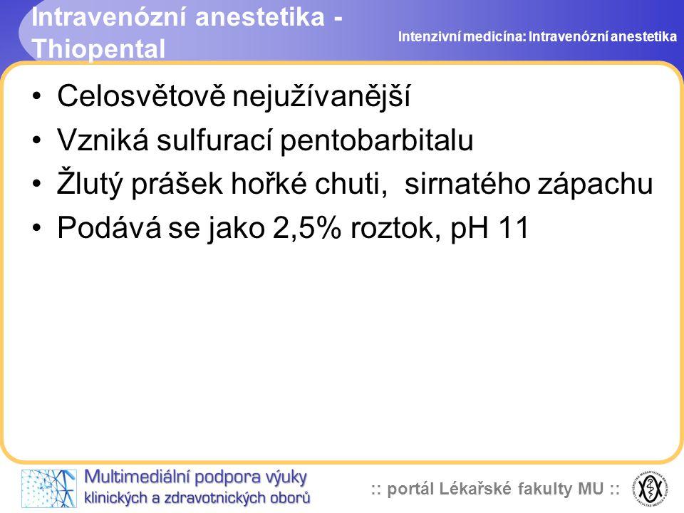 Intravenózní anestetika - Thiopental