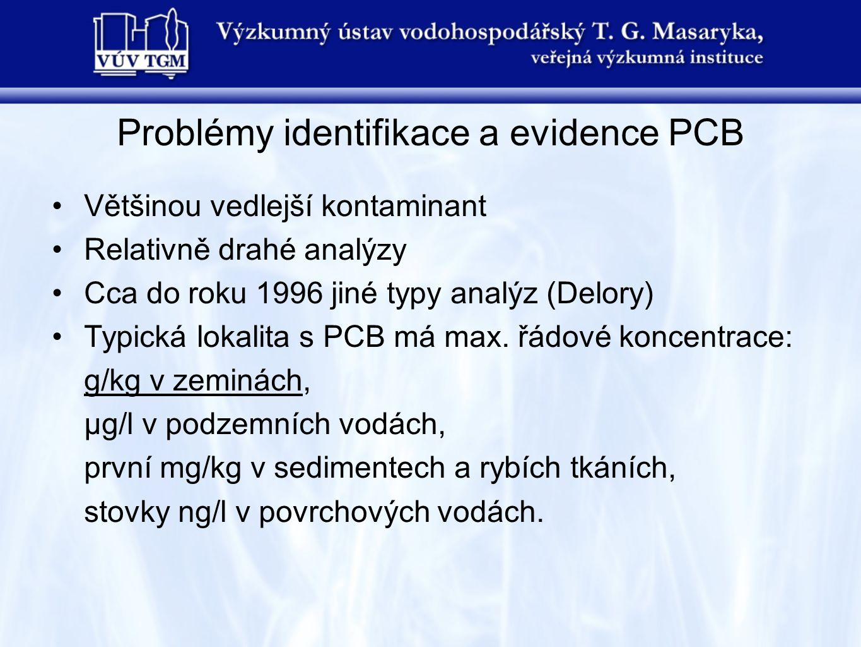 Problémy identifikace a evidence PCB