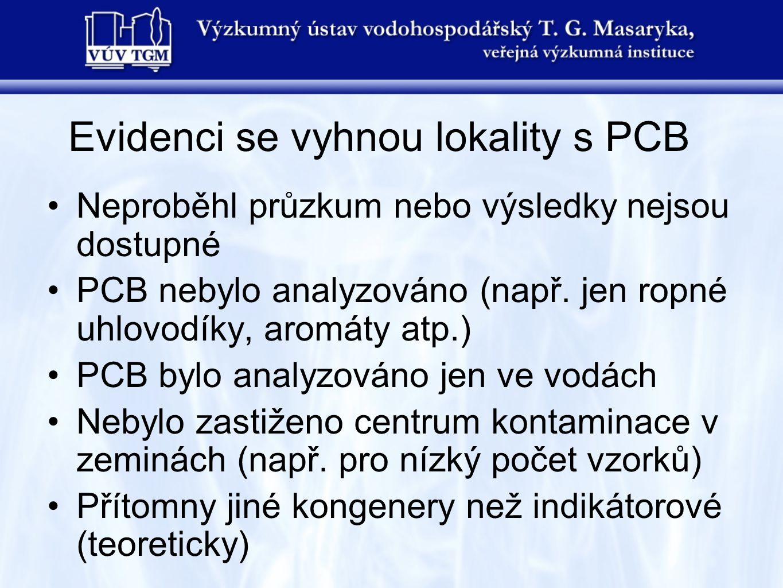 Evidenci se vyhnou lokality s PCB