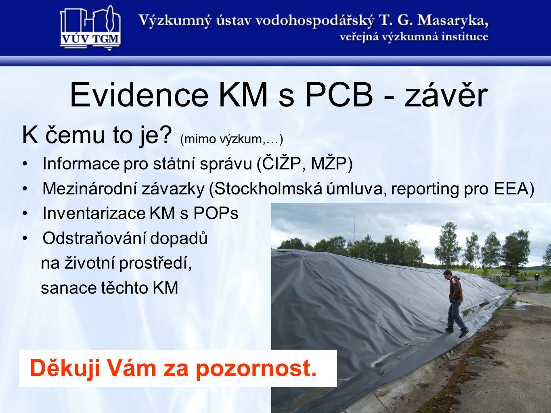 Evidence KM s PCB - závěr