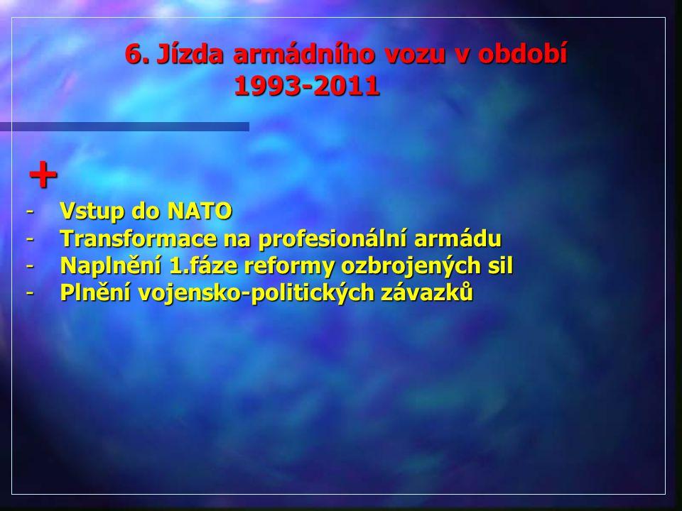 6. Jízda armádního vozu v období 1993-2011