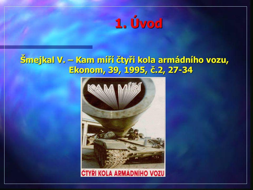 1. Úvod Šmejkal V. – Kam míří čtyři kola armádního vozu, Ekonom, 39, 1995, č.2, 27-34
