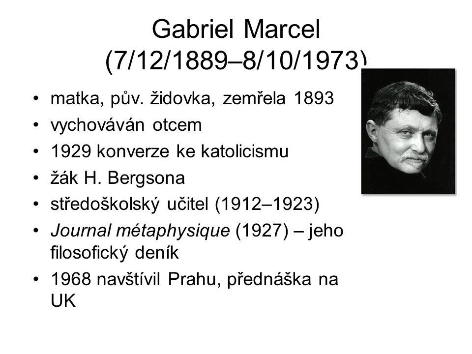 Gabriel Marcel (7/12/1889–8/10/1973)