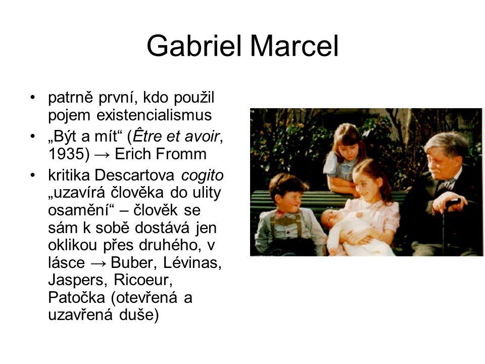 Gabriel Marcel patrně první, kdo použil pojem existencialismus