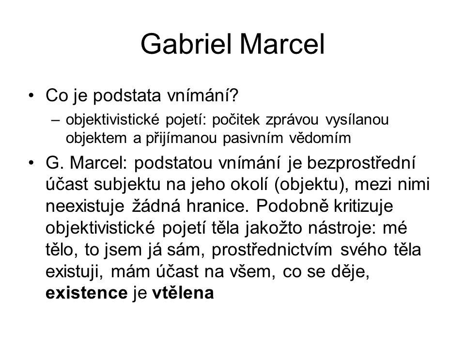 Gabriel Marcel Co je podstata vnímání