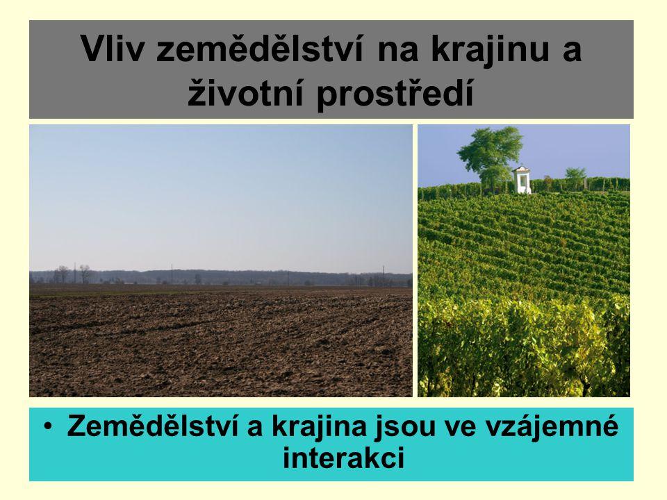 Vliv zemědělství na krajinu a životní prostředí