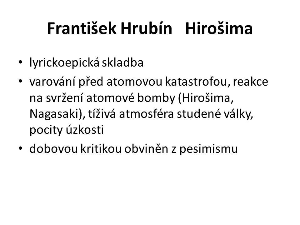 František Hrubín Hirošima