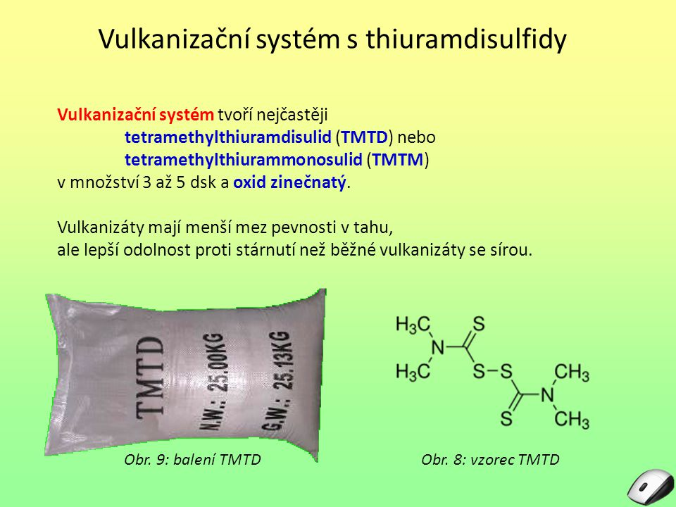 Vulkanizační systém s thiuramdisulfidy