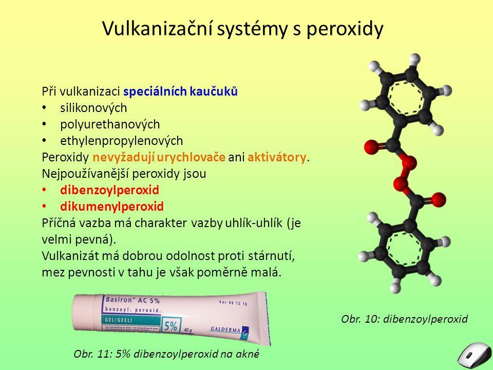 Vulkanizační systémy s peroxidy