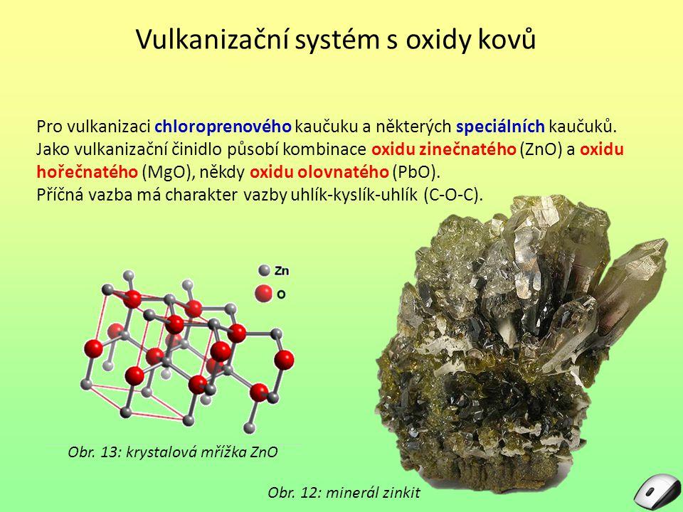 Vulkanizační systém s oxidy kovů