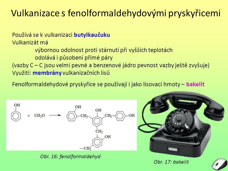 Vulkanizace s fenolformaldehydovými pryskyřicemi