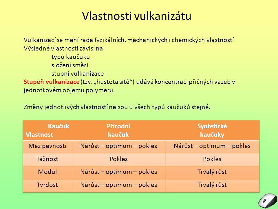 Vlastnosti vulkanizátu