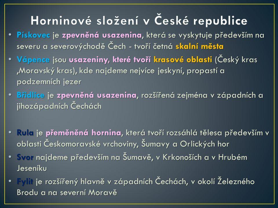 Horninové složení v České republice