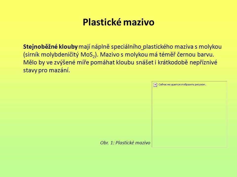 Plastické mazivo