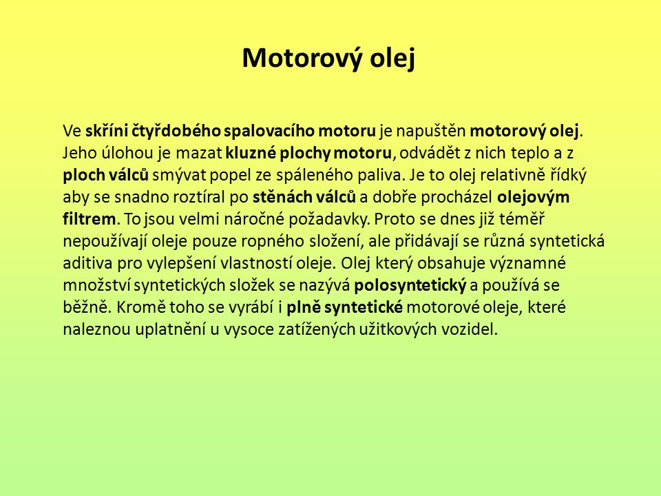 Motorový olej