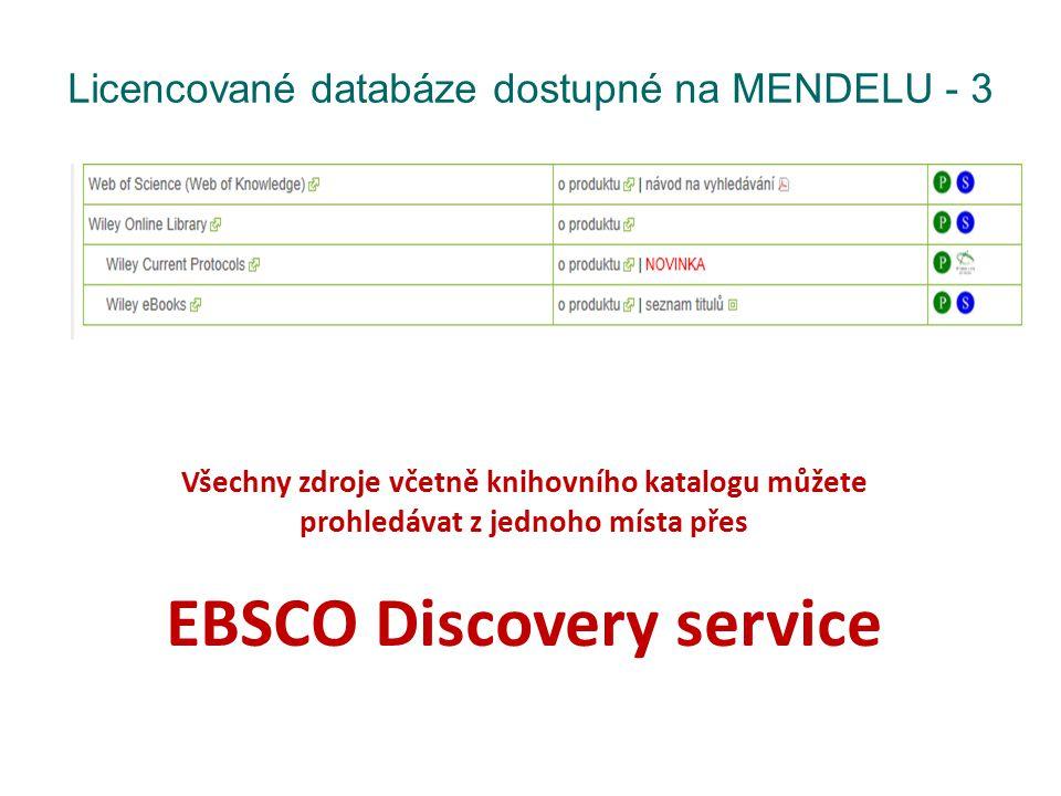 Licencované databáze dostupné na MENDELU - 3