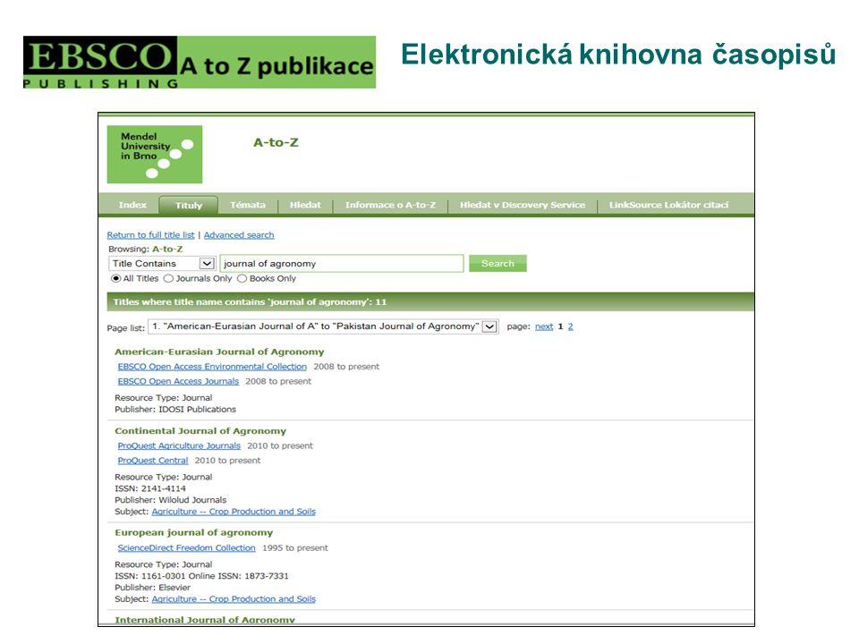 Elektronická knihovna časopisů