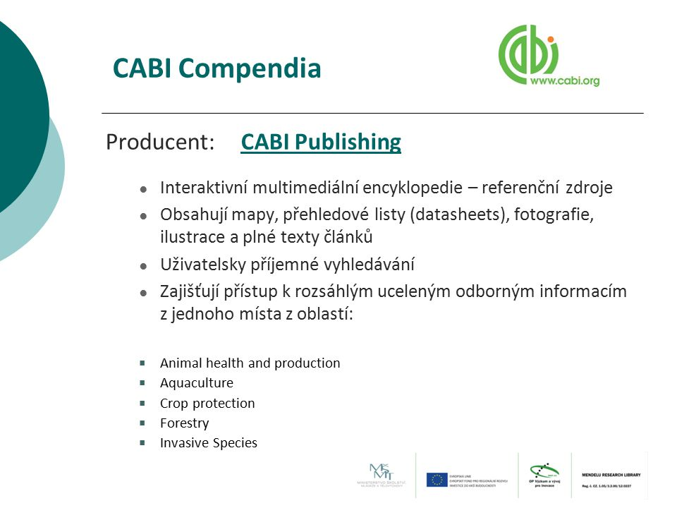 CABI Compendia Producent: CABI Publishing