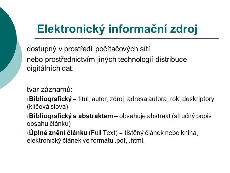 Elektronický informační zdroj