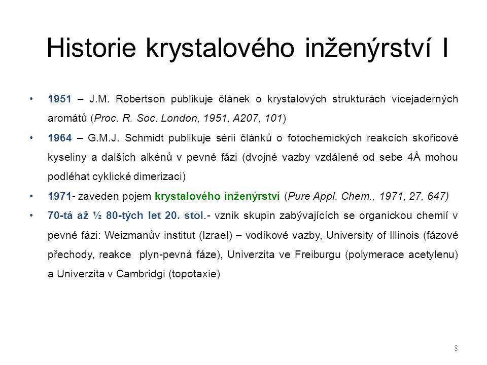 Historie krystalového inženýrství I