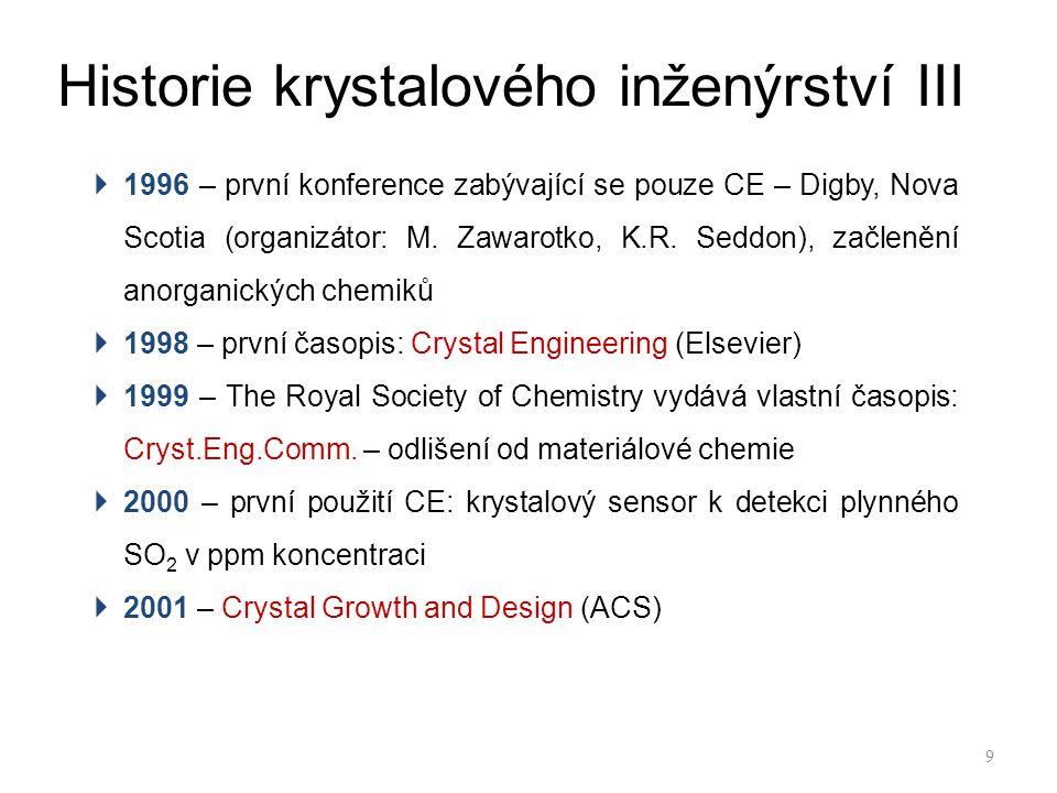Historie krystalového inženýrství III
