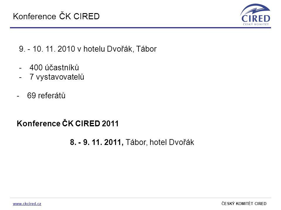 Konference ČK CIRED 9. - 10. 11. 2010 v hotelu Dvořák, Tábor