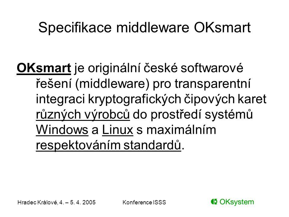 Specifikace middleware OKsmart
