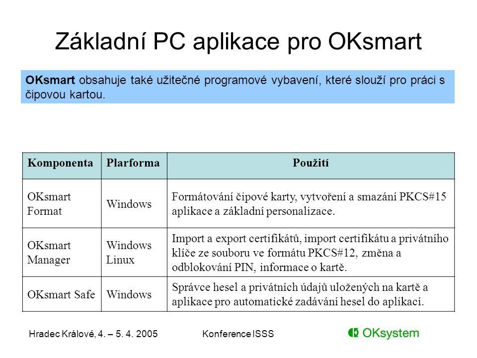 Základní PC aplikace pro OKsmart