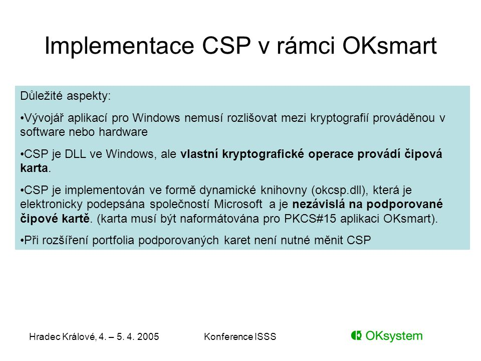 Implementace CSP v rámci OKsmart