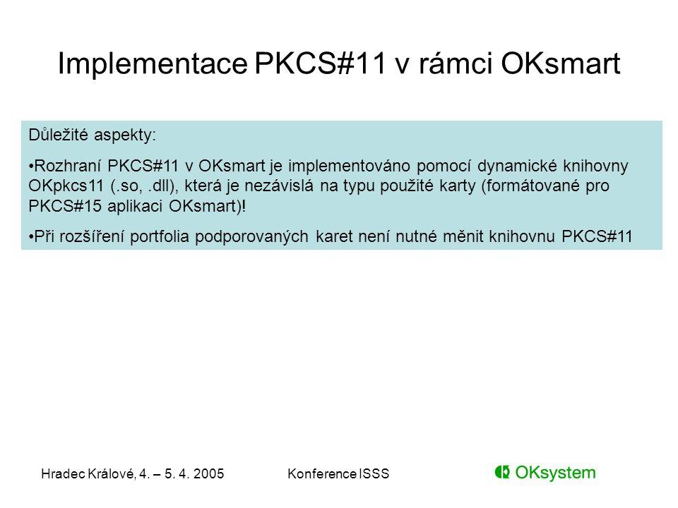 Implementace PKCS#11 v rámci OKsmart