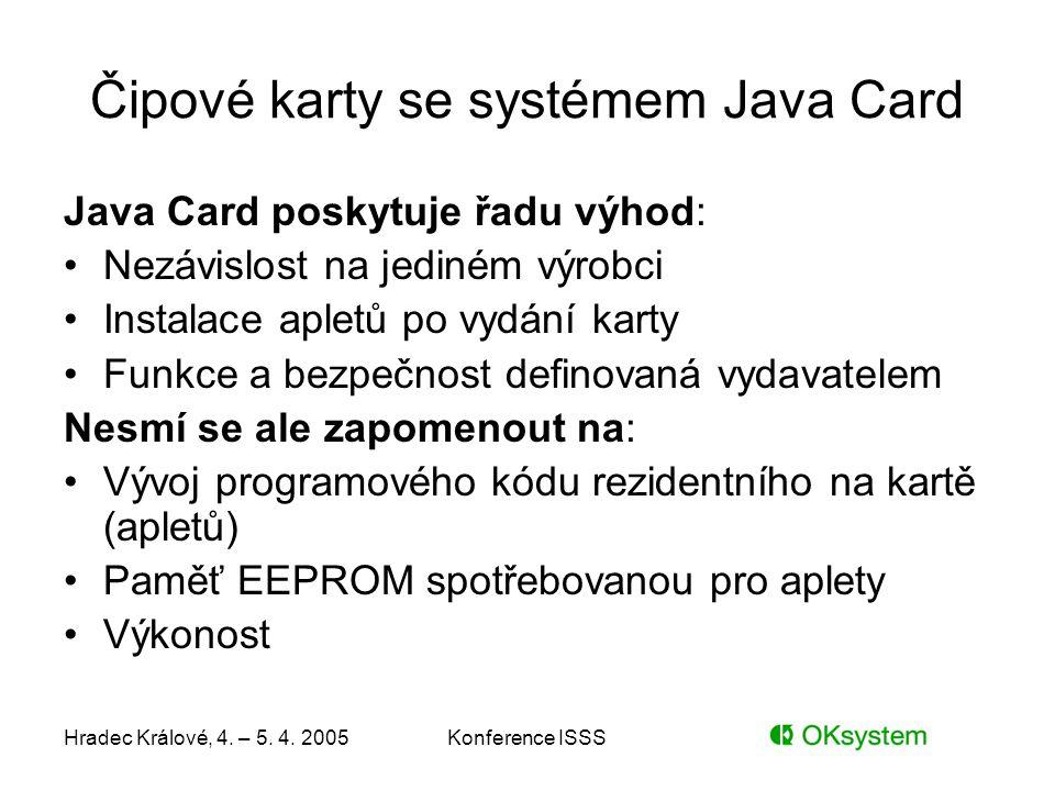 Čipové karty se systémem Java Card