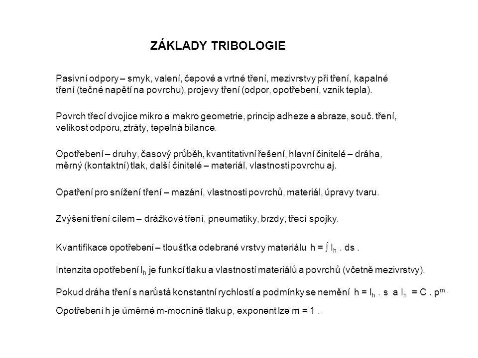 ZÁKLADY TRIBOLOGIE