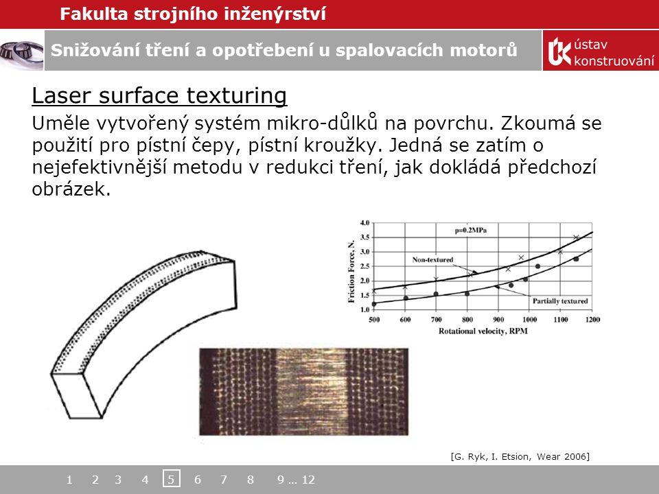 Laser surface texturing