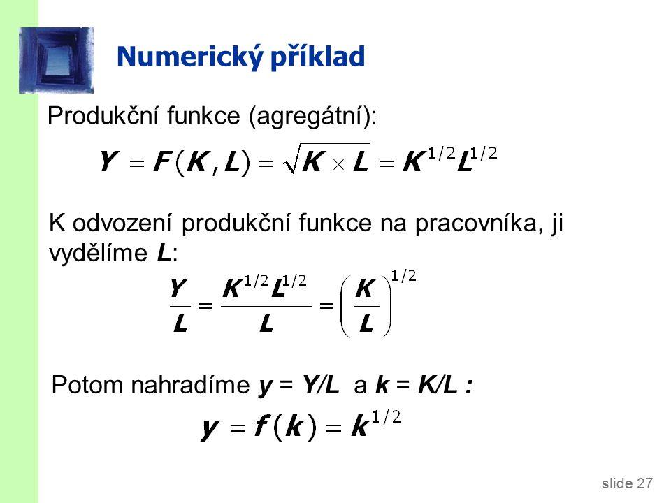 Numerický příklad, pokr.