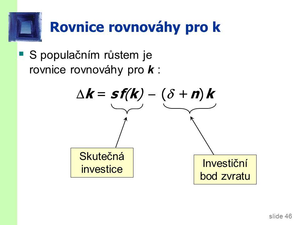 Solow model s populačním růstem