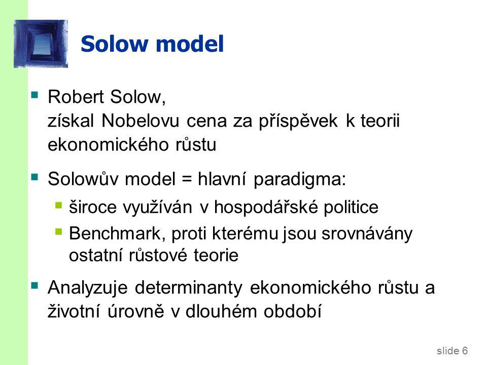 Jak se liší Solow model od základního modelu z Ppt_2